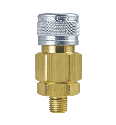 "4905 ZSi-Foster 1-Way Quick Disconnect Socket - 1/4"" MPT - Brass/Steel"