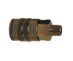 "4FM6 Dixon Steel F-Series Quick Disconnect 1/2"" Manual Industrial Interchange Pneumatic Coupler - 3/4""-14 Male NPTF"