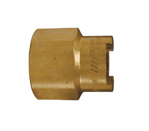 "4NF6-B Dixon Brass N-Series Quick Disconnect 1/2"" Bowes Interchange Pneumatic Coupler - 3/4""-14 Female NPTF"