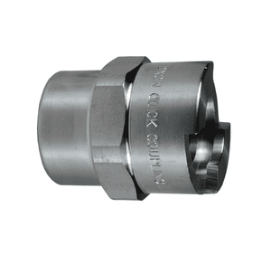 "4NF6-S Dixon 303 Stainless Steel N-Series Quick Disconnect 1/2"" Bowes Interchange Pneumatic Coupler - 3/4""-14 Female NPTF"