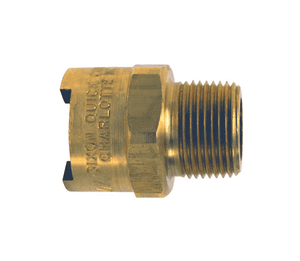 "4NM6-B Dixon Brass N-Series Quick Disconnect 1/2"" Bowes Interchange Pneumatic Coupler - 3/4""-14 Male NPTF"