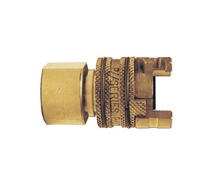 "4PF6-B Dixon Brass P-Series Quick Disconnect 1/2"" Thor Interchange Pneumatic Coupler - 3/4""-14 Female NPTF"