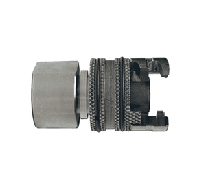 "4PF6-S Dixon 303 Stainless Steel P-Series Quick Disconnect 1/2"" Thor Interchange Pneumatic Coupler - 3/4""-14 Female NPTF"