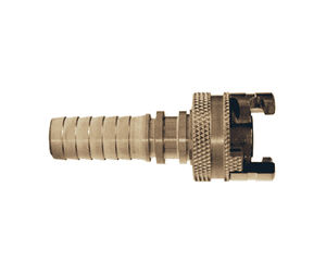 "4PS6-S Dixon 303 Stainless Steel P-Series Quick Disconnect 1/2"" Thor Interchange Pneumatic Coupler - Hose Barb - 3/4"" Hose ID"