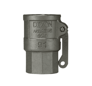 "50-D-SS Dixon 1/2"" 316 Stainless Steel Type D Coupler"