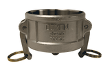 "300-DC-SS Dixon 3"" 316 Stainless Steel Type DC Dust Cap"