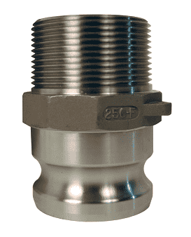 "125-F-SS Dixon 1-1/4"" 316 Stainless Steel Boss Lock Type F Adapter"