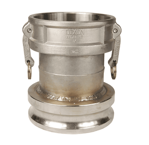 "5060-DA-SS Dixon 5"" x 6"" 316 Stainless Steel Reducing Cam and Groove Coupler x Adapter"