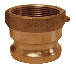 "7550-A-BR Dixon 3/4"" x 1/2"" Brass Boss Lock Type A Adapter"