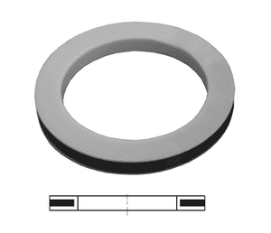600-G-TF Dixon PTFE Envelope Cam and Groove Gasket - PTFE with Buna Filler - 6""