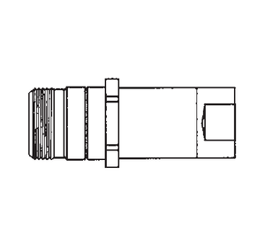 5100-S2-4B Eaton 5100 Series Male Plug - 1/8-27 Female NPT, Valved without Flange Quick Disconnect Coupling - Brass