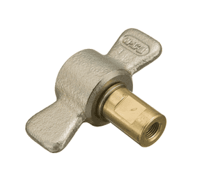 5100-S5-4B Eaton 5100 Series Female Socket - 1/8-27 Female NPT, Valved WITH Wing Nut Less Flange Quick Disconnect Coupling - Brass