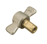 5100-S5-8B Eaton 5100 Series Female Socket - 3/8-18 Female NPT, Valved WITH Wing Nut Less Flange Quick Disconnect Coupling - Brass