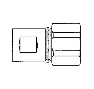 5110-S5-10B Eaton 5100 Series Female Socket - 1/2-14 Female NPT, Valved without Flange Quick Disconnect Coupling - Brass