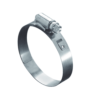 "5320051 Ideal Tridon Worm Gear Lined Clamp 53-0 Series - 200 Stainless - 1/2"" Band Width - Clamp Range: 1"" to 1-3/4"" - Pack of 10"