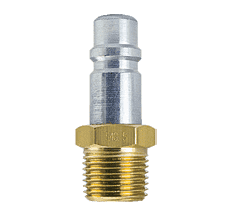"54S-5 ZSi-Foster Quick Disconnect Plug - 1/2"" MPT - Free Swivel Under Pressure, Steel"