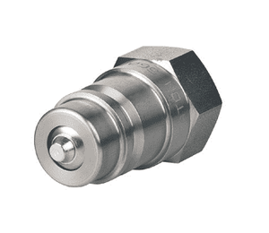 560049-8-10 Eaton 5600 Series ISO 7241-1 A Interchange Male Plug Female NPTF Quick Disconnect Coupling Standard Buna-N Seal - 303 Stainless Steel