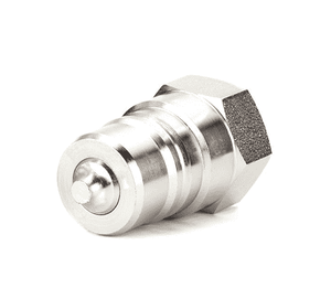 5644-4-4S Eaton 5600 Series Male Plug, Female NPT, Valved Quick Disconnect Coupling EPDM Seal - Steel