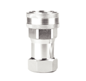FD56-1239-08-10 Eaton 5600 Series Female Socket, Female NPT, Valved with Sleeve Lock Quick Disconnect Coupling Standard Buna-N Seal - Steel