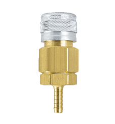 "5605 ZSi-Foster 1-Way Quick Disconnect Socket - 1/4"" ID - Brass/Steel - Hose Stem"