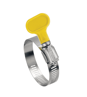 "5Y06451 Ideal Tridon Turn-Key® 5Y Series - 200 Stainless Steel - 1/2"" Band Width - Clamp Range: 2-1/2"" to 4-1/2"" - Pack of 10"