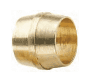 "60NAB4 Dixon Brass Air Brake Fitting - Sleeve - 1/4"" Tube OD (Pack of 100)"