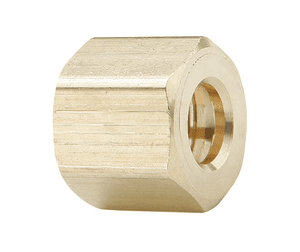 "61C-08 Dixon Brass Compression Fitting - Nut - 1/2"" Tube Size x 11/16""-20 Straight Thread"