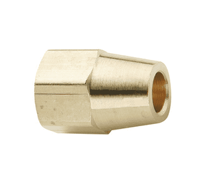 "61CL-04 Dixon Brass Compression Fitting - Long Nut - 1/4"" Tube Size x 7/16""-24 Straight Thread"