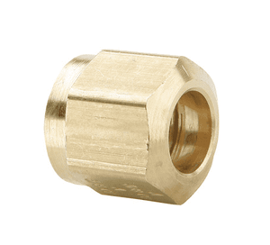 "61NAB8 Dixon Brass Air Brake Fitting - Nut - 1/2"" Tube OD - 11/16""-20 Female NPT (Pack of 50)"