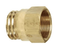 "61RBSG-06 Dixon CA360 Brass Air Brake Fitting - Spring Guard Nut - 3/8"" Hose Size - 31/32""-20 Straight Thread"