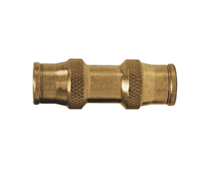 "628 Dixon Brass Push-In Fitting - Union - 1/4"" Tube OD"