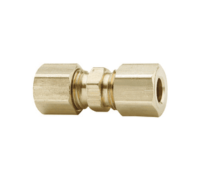 "62C-07 Dixon Brass Compression Fitting - Union - 7/16"" Tube Size"
