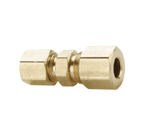 "62C-0604 Dixon Brass Compression Fitting - Union Reducer - 1/4"" x 3/8"" Tube Size"