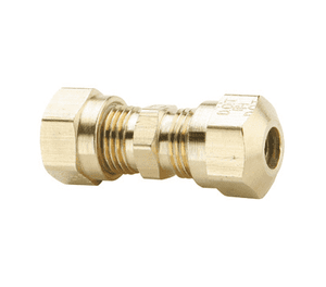 "62NAB4 Dixon Brass Air Brake Fitting - Union - 1/4"" Tube OD - 7/16""-24 Straight Thread (Pack of 10)"