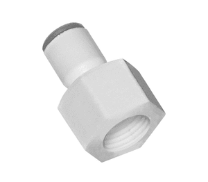 "63156018WP2 Dixon LIQUIfit Nylon Female Connector - 3/8"" Tube to 3/8"" Female NPTF - Pack of 10"