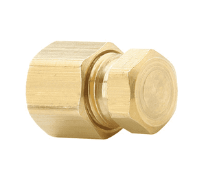 "639C-04 Dixon Brass Compression Fitting - Seal Plug - 1/4"" Tube Size"