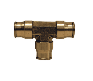 "6416 Dixon Forged Brass Push-In Fitting - Union Tee - 1/2"" Tube OD"