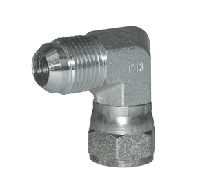 "6500-4 Dixon Zinc Plated Steel 7/16""-20 Male 37 deg. JIC Flare x 7/16""-20 Female 37 deg. JIC Swivel 90 deg. Elbow"