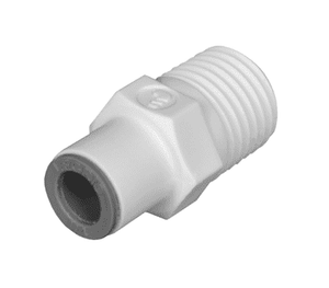 "65056014WP2 Dixon LIQUIfit Nylon Male Connector - 3/8"" Tube to 1/4"" Male NPTF - Pack of 10"