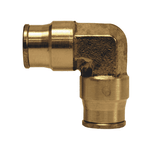 "658 Dixon Forged Brass Push-In Fitting - Union Elbow - 1/4"" Tube OD"