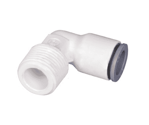 "65796018WP2 Dixon LIQUIfit Nylon Fixed Elbow - 3/8"" Tube to 3/8"" Male NPTF - Pack of 10"
