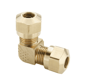 "65NAB4 Dixon Brass Air Brake Fitting - Union Elbow - 1/4"" Tube OD - 7/16""-24 Straight Thread (Pack of 10)"