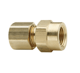 "66C-0608 Dixon Brass Compression Fitting - Female Connector - 3/8"" Tube Size x 1/2"" Pipe Thread"