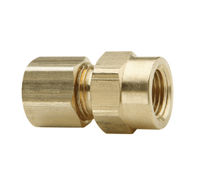 "66C-0402 Dixon Brass Compression Fitting - Female Connector - 1/4"" Tube Size x 1/8"" Pipe Thread"