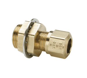 "66NBH86 Dixon Brass Air Brake Fitting - Bulkhead Union - 1/2"" Tube OD - 3/8"" Pipe Thread (Pack of 10)"