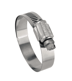 "6764M51 Ideal Tridon Lined Worm Gear Clamp 67M Series - 316 Stainless - 1/2"" Band - Clamp Range: 3-9/16"" to 4-1/2"" - Pack of 10"