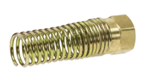 "67RBSG-06 Dixon CA360 Brass Air Brake Fitting - Hose Nut and Attached Spring - 3/8"" Hose Size - 3-1/2"" Length"