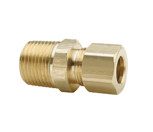 "682C-0606 Dixon Brass Compression Fitting - Straight Through Tank Fitting - 3/8"" Tube Size x 3/8"" Pipe Thread"