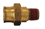 "688x10 Dixon Brass Push-In Fitting - Male Connector - 1/4"" Tube OD x 10-32 Male UNF"