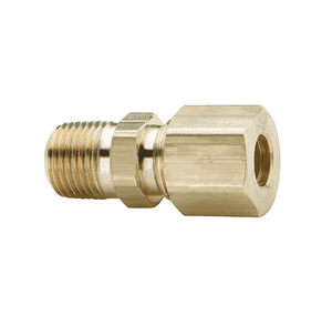 "68C-0608 Dixon Brass Compression Fitting - Male Connector - 3/8"" Tube Size x 1/4"" Pipe Thread"